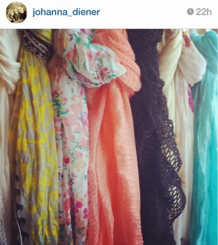 Different colors of scarves