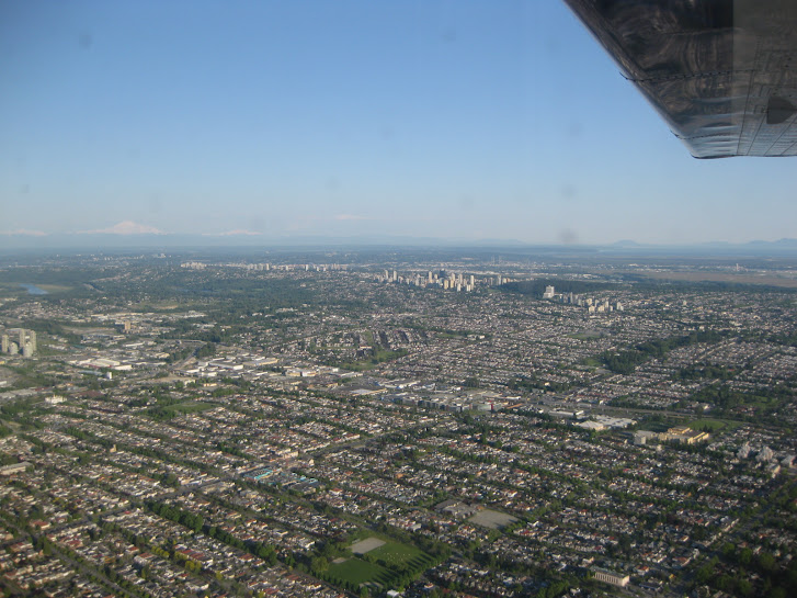 View over Vancouver from a seaplane. Gorgeous day!