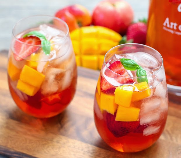 close-up photo of Iced Tea Sangria