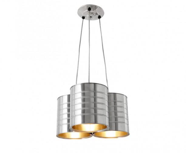 лампа от консервени кутии