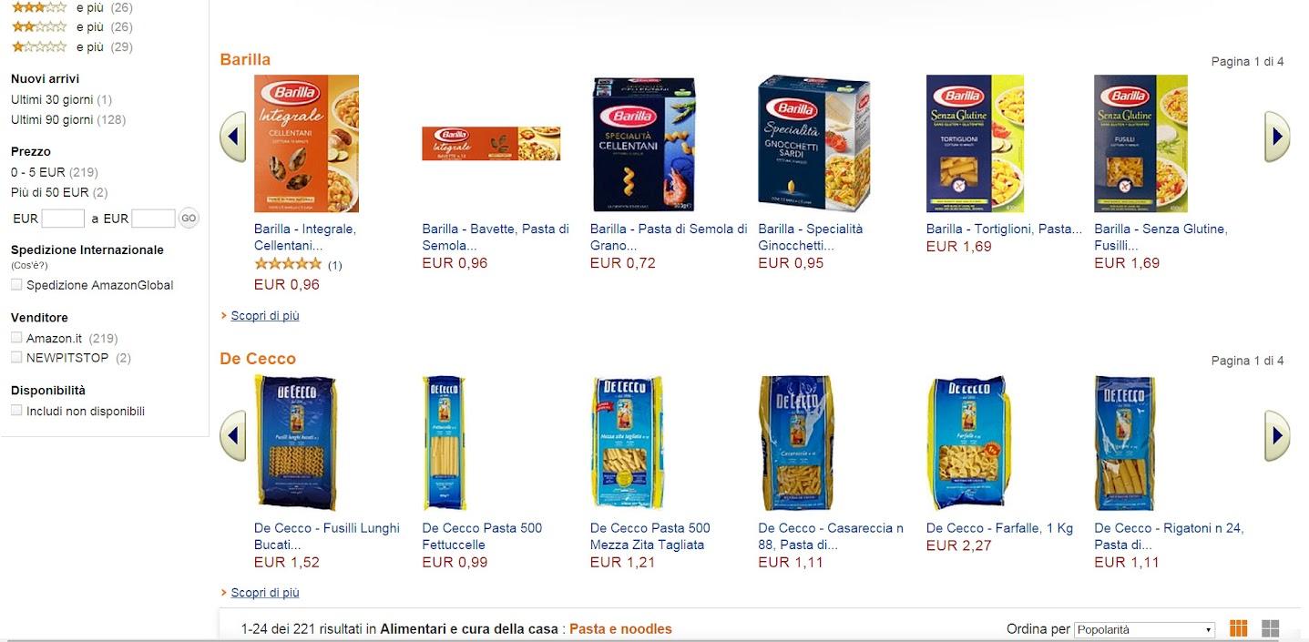 Pasta e caffè? Ora si comprano online su Amazon!