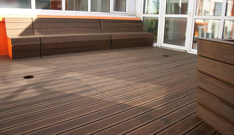 Terrasse avec banc int gr cast agencement for Banquette terrasse