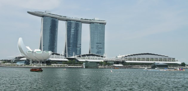 The famous Marina Bay of Singapore