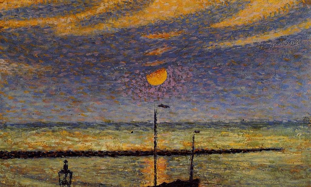 Georges Lemmen - Heyst No. 19, Clear Night, Moon