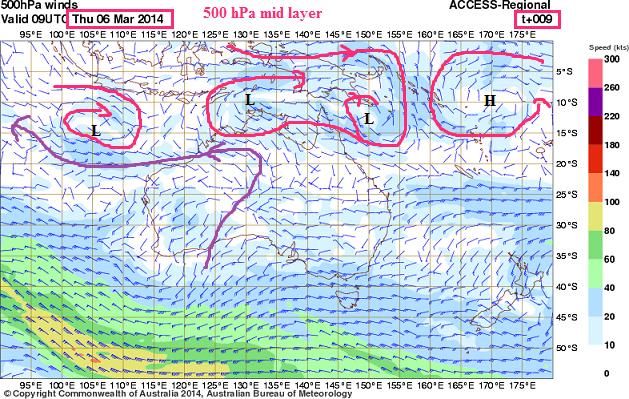 6th march 2014 500hpa layer australia