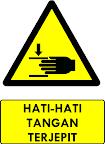 Rambu Bahaya Tangan Terjepit