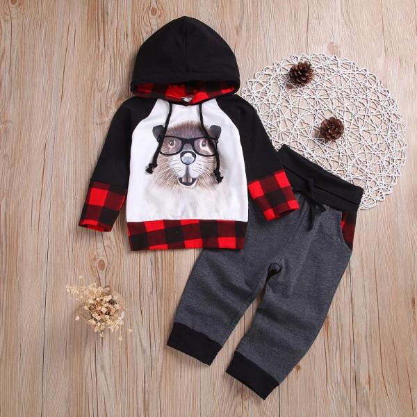 Toddler Boy Scholar Squirrel Hoodie & Pants