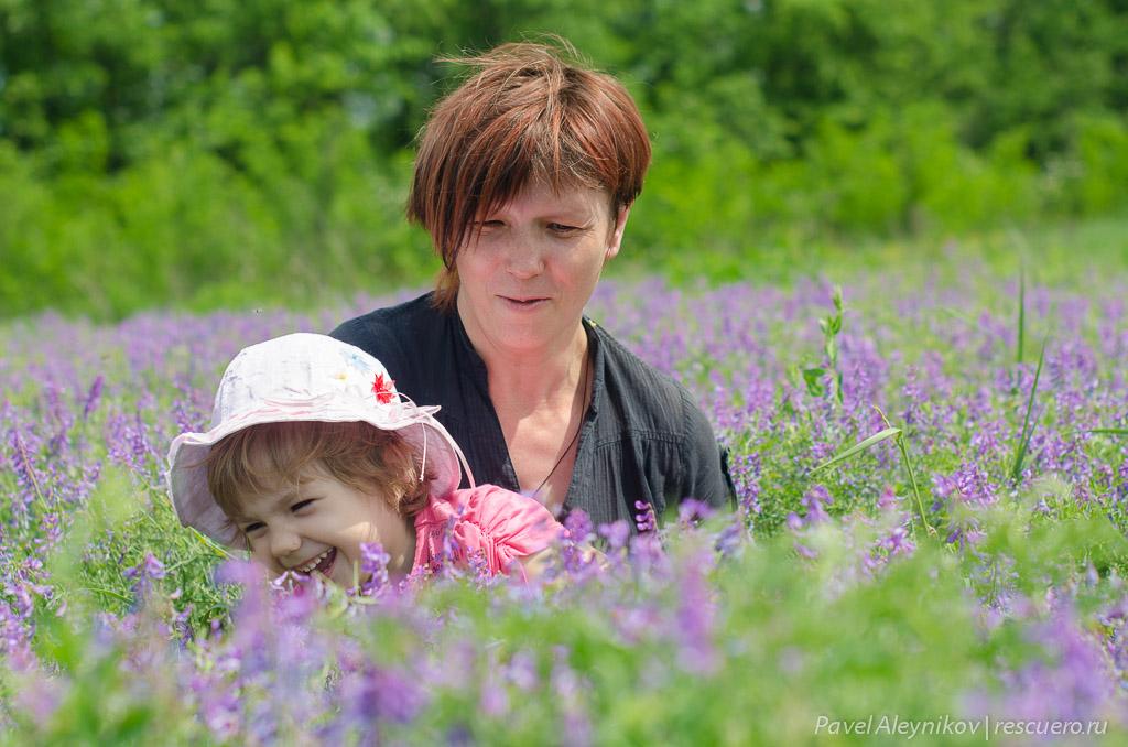 Катюша и мама Лена