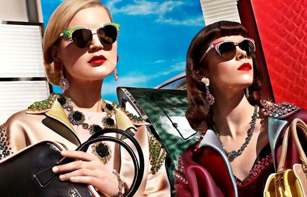 Prada sunglasses spring campaign 2012