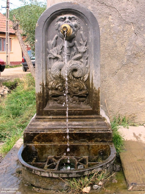 Zarnesti, inscriptie pe o pompa de apa