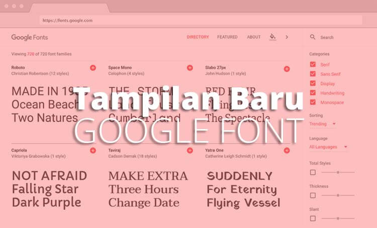 Kini Lebih Menarik Memilih Font Di Google Font