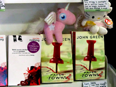 Paper Towns redecorated with unicorns