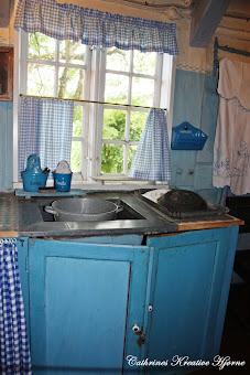 Hyggelig Madam blå kjøkken på Køge museum, Danmark