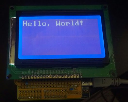 Hello, World! in Arduino with an st7920 LCD Panel | (parenthetic)