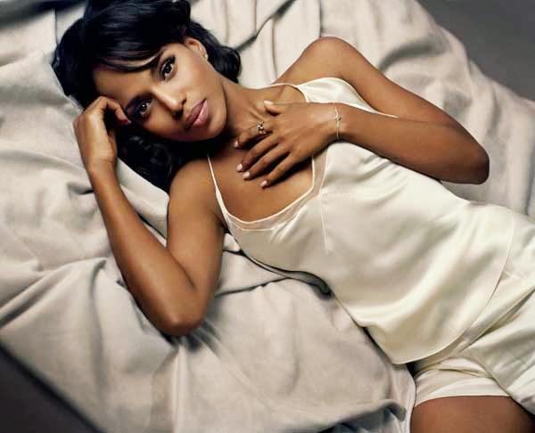 Kerry Washington, en la cama