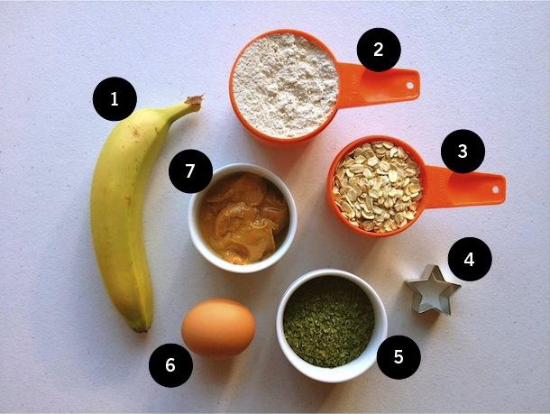 recipe for banana and peanut butter dog treats gluten-free, wheat-free, dairy-free