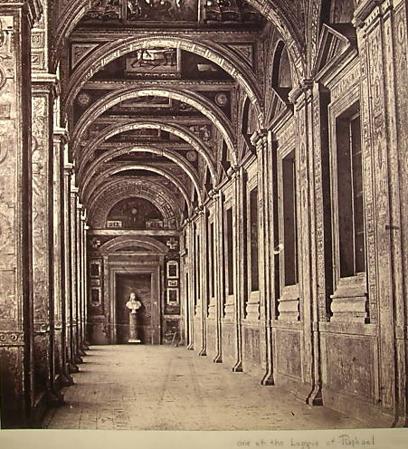 Rome - Loggia of Raphael in the Vatican Palace, Before 1872, By Robert MacPherson (1811-1872)