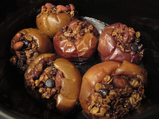 finished breakfast baked apples