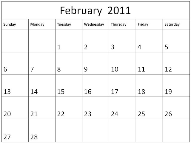 free printable blank calendars 2011. 2011 calendar blank printable.