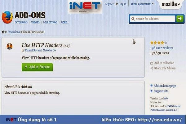 Công cụ live http headers