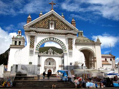 Church in Copacabana on Lake Titicaca in Bolivia