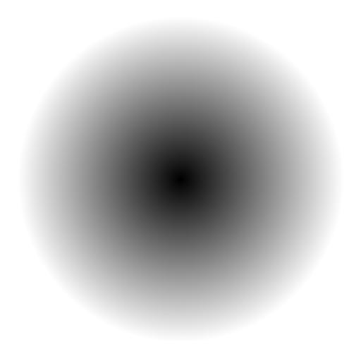 black-to-white gradient disc