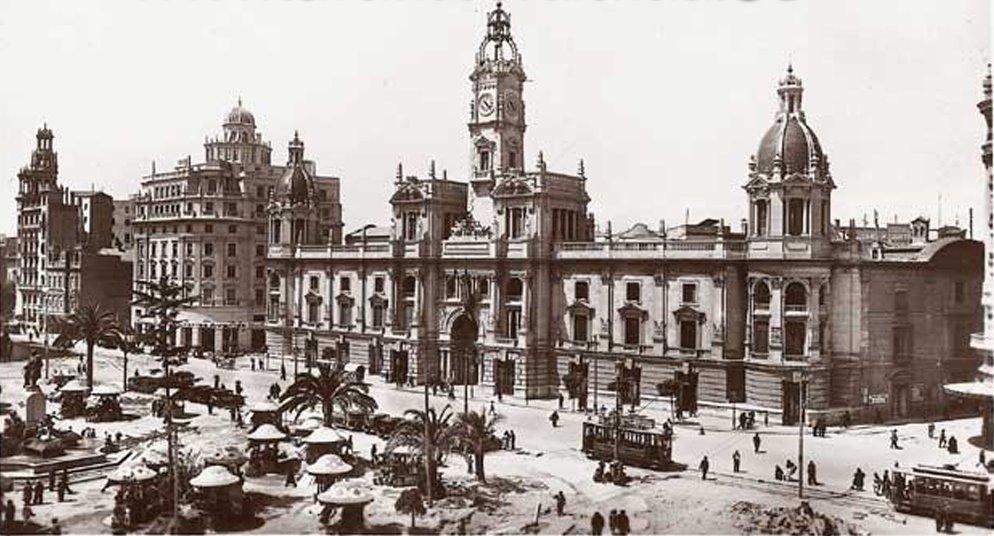 Valencia ayer la plaza de emilio castelar for Fotos antiguas de valencia