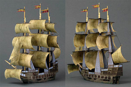 Ghost Ship Papercraft