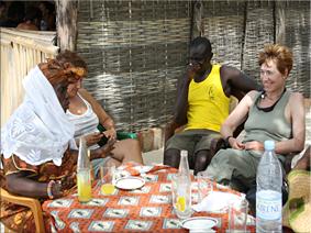 Mama-Lamine con las Gacelas,isla de Carabane