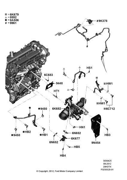 ford focus engine partment diagram
