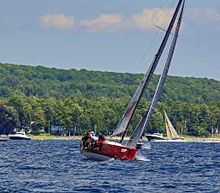J/111 one-design sailboat- sailing upwind