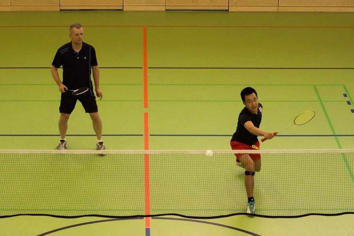 Georg und Bo im ersten Doppel