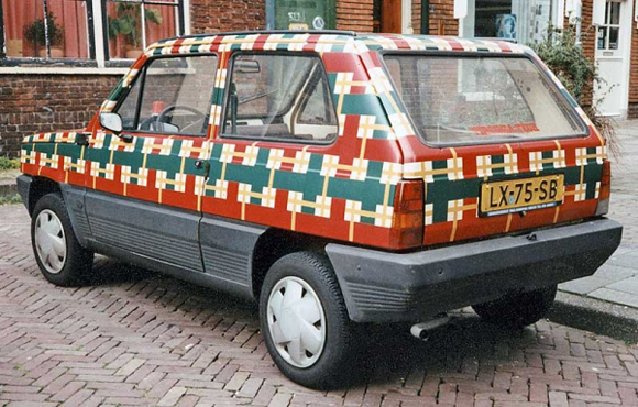 Fiat Panda Art Car By Patricia Van Lubeck