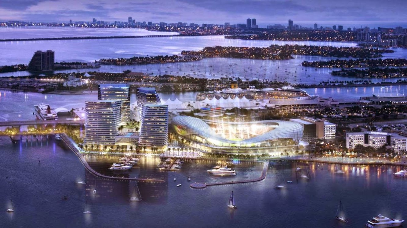Stadium: STADIUM PORT MIAMI by ARQUITECTONICA SPONSORED by DAVID BECKHAM