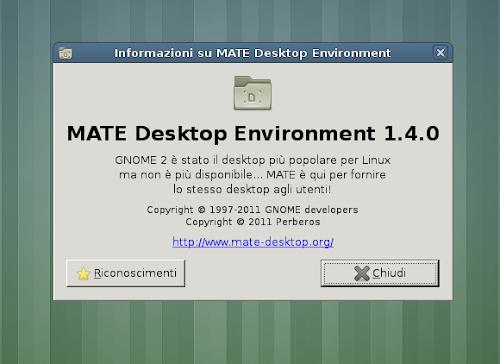 Mate 1.4 su Ubuntu