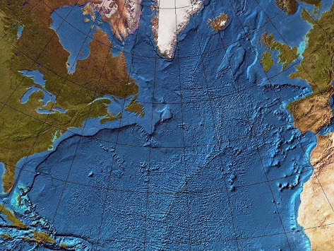 North Atlantic Map or Chart - Gnomic Projection