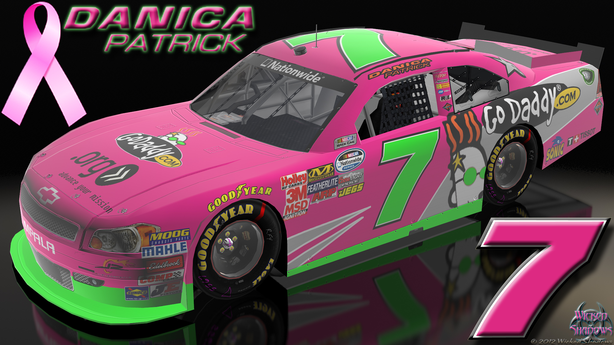 Wallpapers By Wicked Shadows Danica Patrick Dale: Wallpapers By Wicked Shadows: Danica Patrick Go Daddy Pink Car