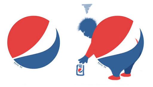 Pepsi engorda? Pelo menos o logo novo engordou