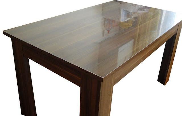 Tischschutz 90 cm breit glasklar die tischfolie for Tischfolie holzoptik