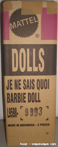 Barbie Silkstone Je ne sais quoi: el embalaje (paquete) tal cual llegó a mi casa