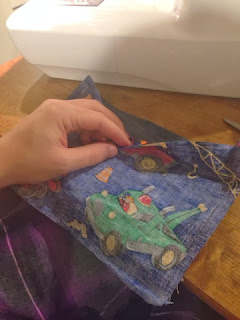 Sewing shape for the tool belt.