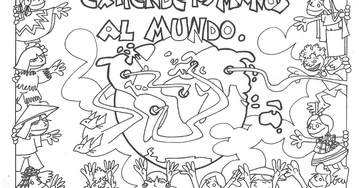 Dibujos De Las Misiones: Dibujos Católicos : Día De Las Misiones Para Colorear