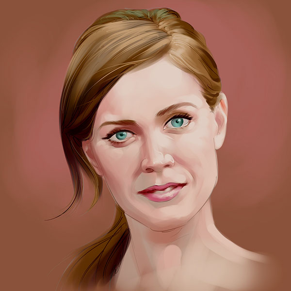 amy adams digital painting
