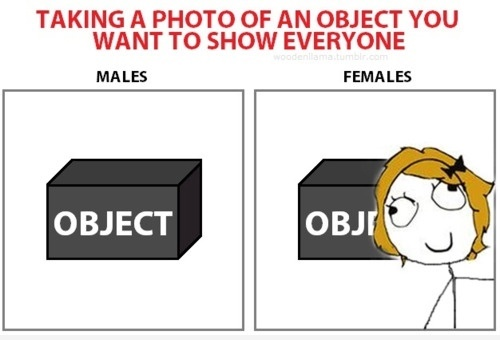 Taking A Picture : Male VS Female