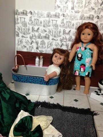 Pennilesscaucasianrubbish American Doll Adventures Make A Bathroom