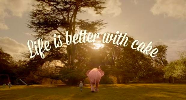 Life is better with cake — Mr. Kipling Pink Elephant Advert