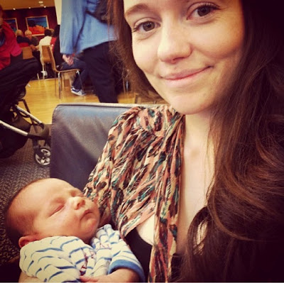 Saskia and Diggory as a baby