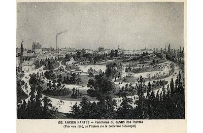Le Jardin des Plantes de Nantes à travers les cartes ...