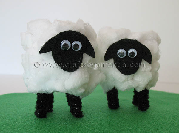 Cardboard tube lamb tutorial video crafts by amanda for Cardboard sheep template