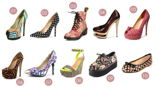 comprar sapatos estampados